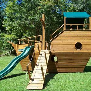 wooden ship playground equipment